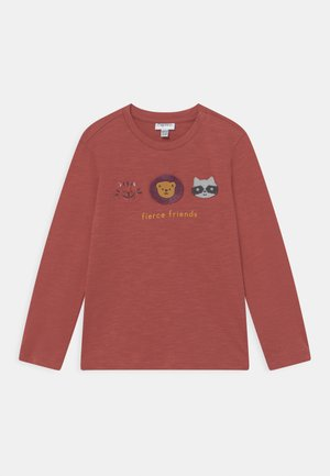 ANIMALS APPLIQUE - Long sleeved top - burnt brick