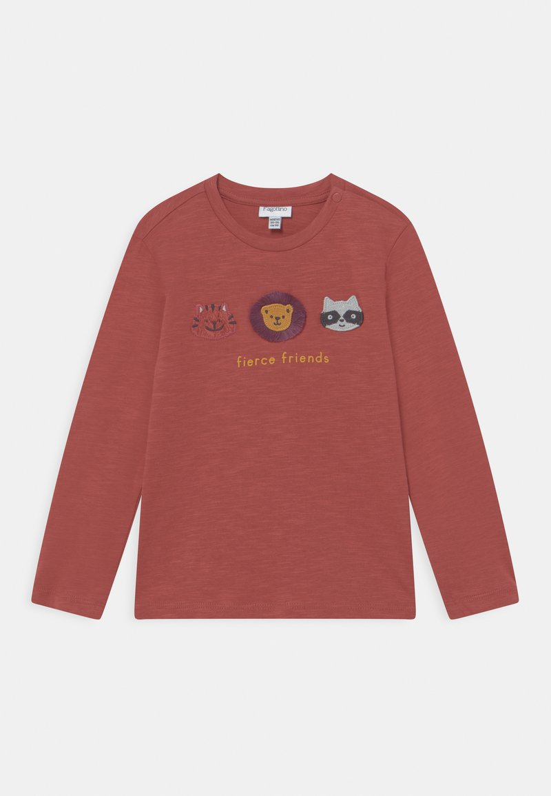OVS - ANIMALS APPLIQUE - Camiseta de manga larga - burnt brick