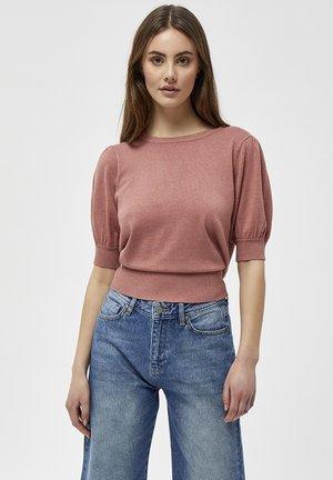LIVA - Print T-shirt - old rose melange