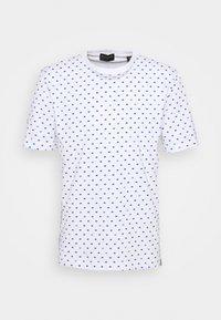 Scotch & Soda - CLASSIC ALLOVER PRINTED TEE - Print T-shirt - white/blue - 4