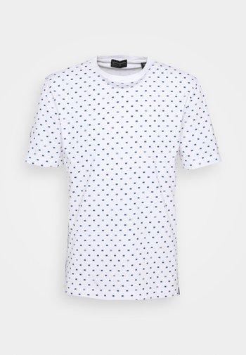 CLASSIC ALLOVER PRINTED TEE - Print T-shirt - white/blue