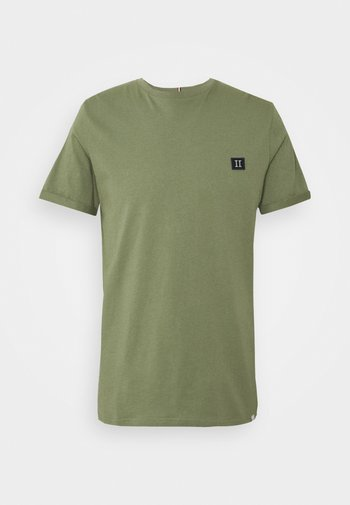 PIECE - Basic T-shirt - dark green/sand