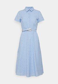 Lauren Ralph Lauren Petite - ROWEN SHORT SLEEVE DAY DRESS - Shirt dress - light sky blue - 0