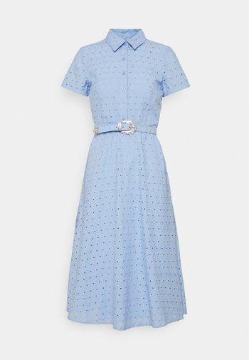 ROWEN SHORT SLEEVE DAY DRESS - Shirt dress - light sky blue