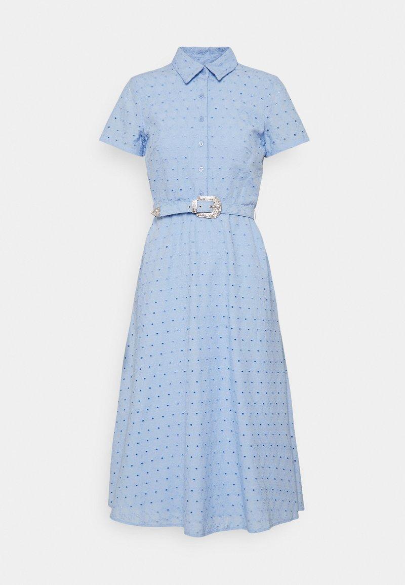 Lauren Ralph Lauren Petite - ROWEN SHORT SLEEVE DAY DRESS - Shirt dress - light sky blue