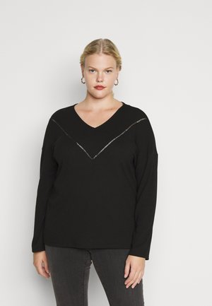 CARCAMILIE  - Long sleeved top - black