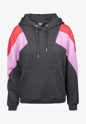 Sweat à capuche - blk/firered/coolpink