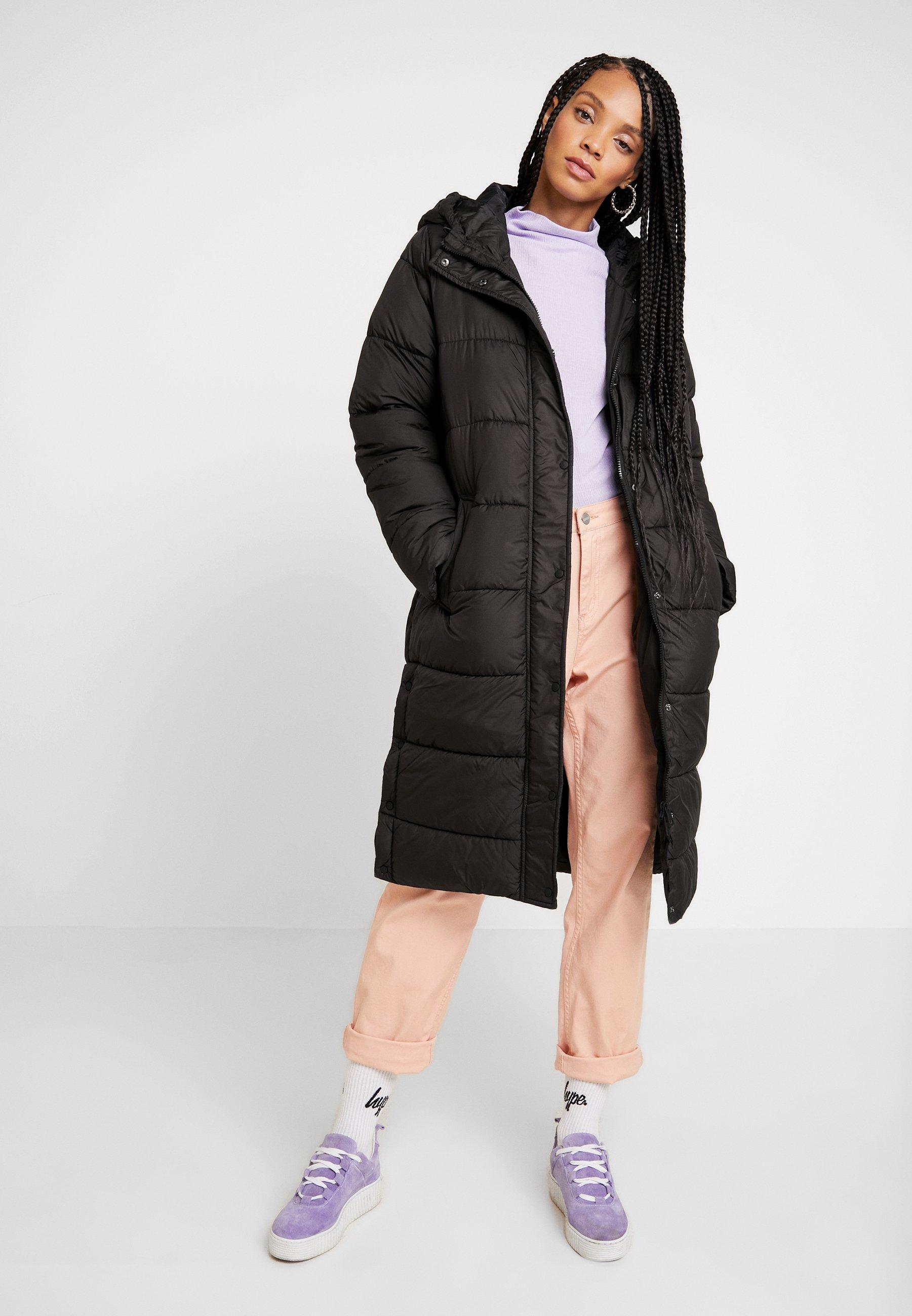 ONLCAMMIE LONG QUILTED COAT Winterjas black