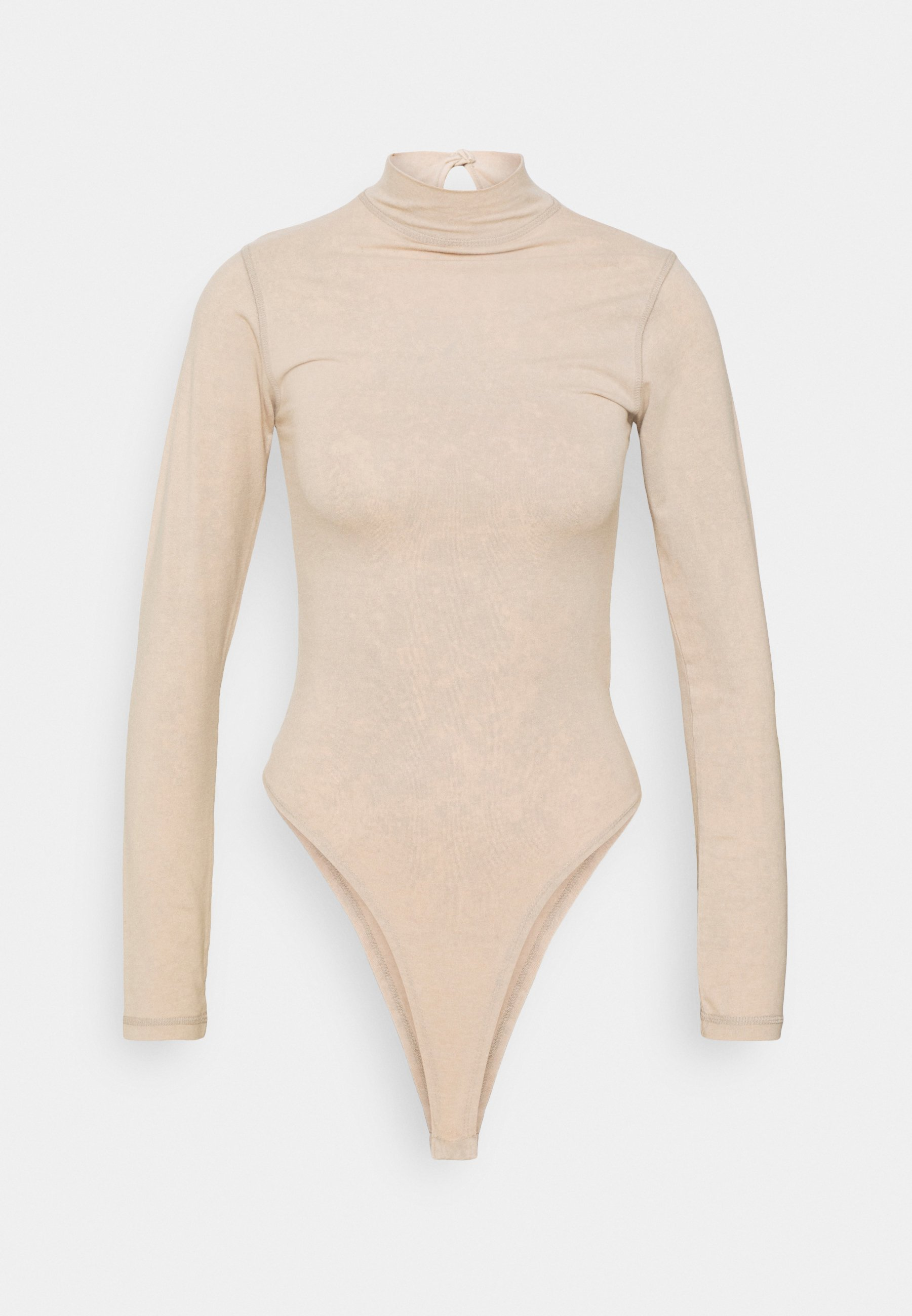 Women LONG SLEEVE WASHED BODYSUIT - Top