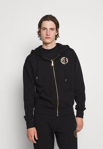 Zip-up sweatshirt - nero/oro
