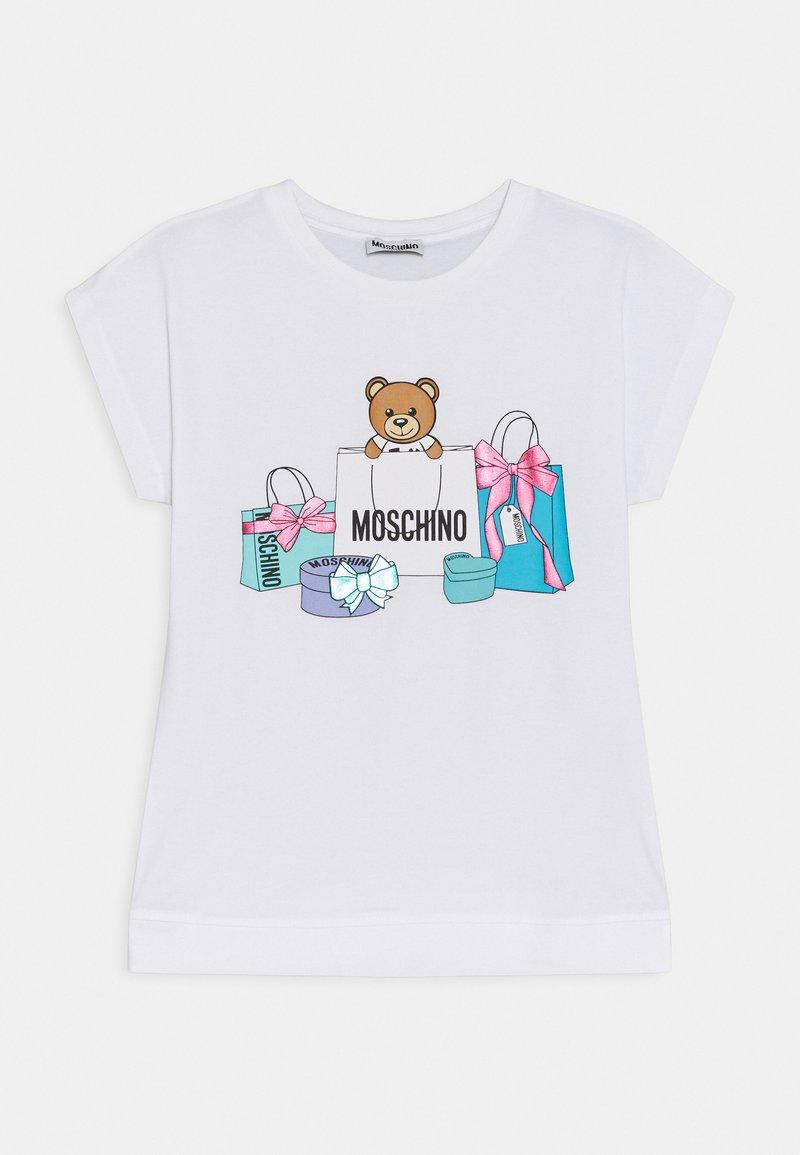 MOSCHINO - MAXI - Print T-shirt - optic white