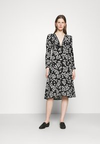 Alexa Chung - LONG SLEEVE DRESS - Freizeitkleid - black/off white - 0