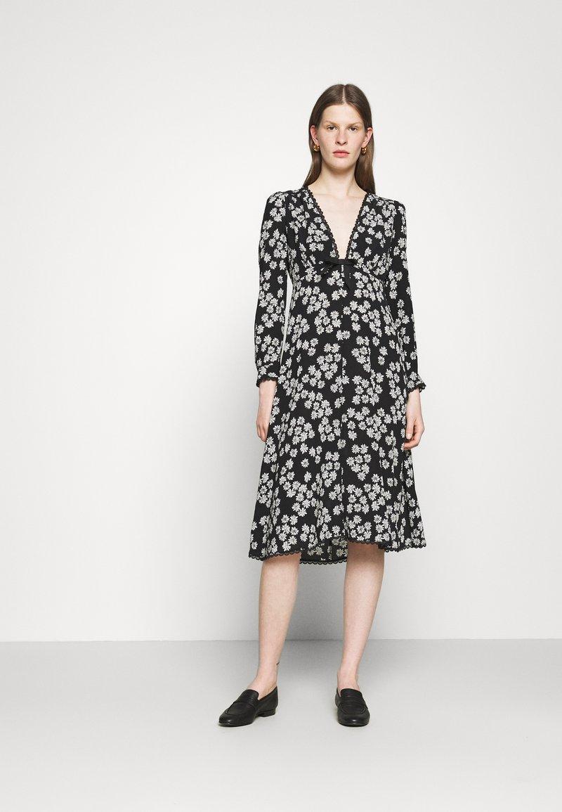 Alexa Chung - LONG SLEEVE DRESS - Freizeitkleid - black/off white