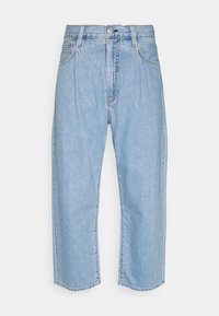 STAY LOOSE PLEATED CROP - Vaqueros boyfriend - light indigo