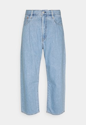 STAY LOOSE PLEATED CROP - Relaxed fit jeans - light indigo
