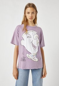 PULL&BEAR - MIT TASSILO-MOTIV - Print T-shirt - mauve - 1