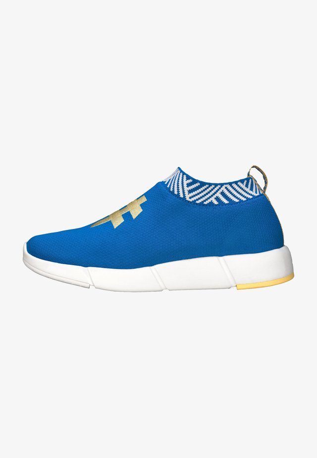 WATERPROOF COFFEE SNEAKERS - Matalavartiset tennarit - ocean blue