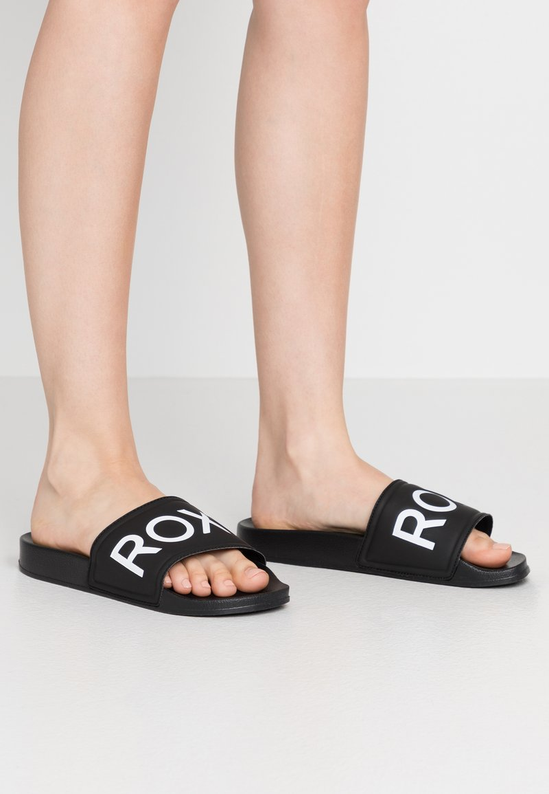 Roxy - SLIPPY  - Sandalias planas - black