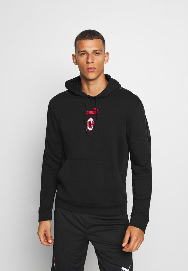 AC MAILAND FTBLCULTURE HOODY  - Club wear - black/tango red