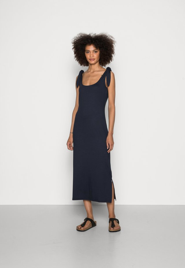 TIE DRESS - Jersey dress - navy