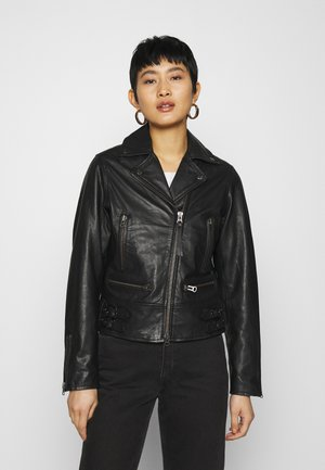 LYCCA - Kožená bunda - black