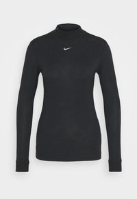 Nike Sportswear - TEE MOCK SLIM - T-shirt à manches longues - black/white - 3