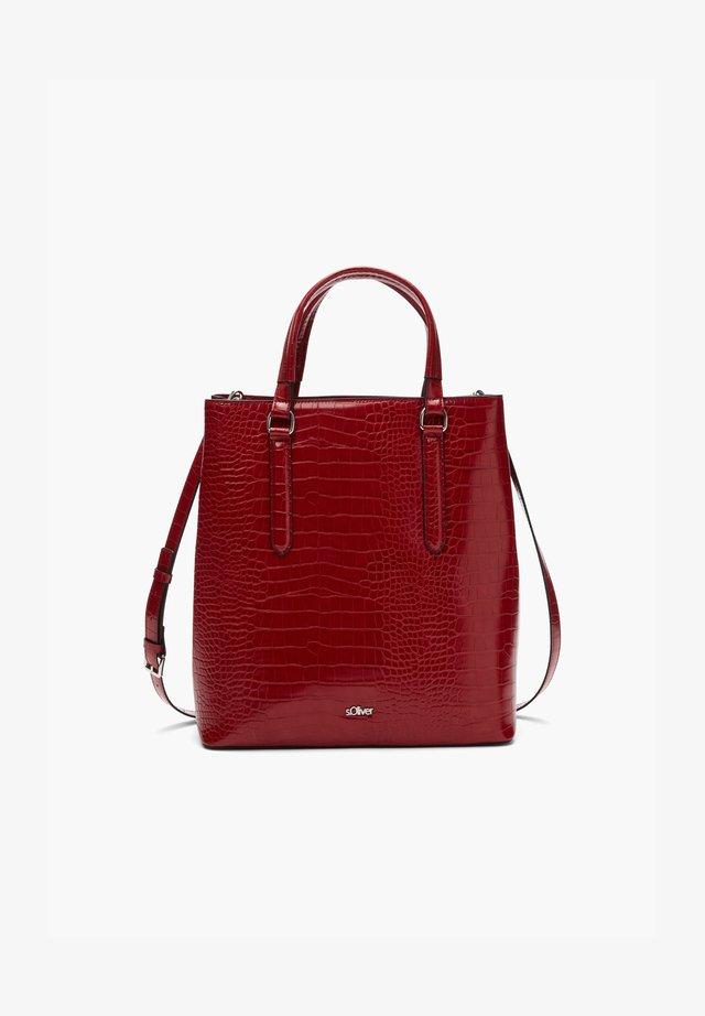 Tote bag - burned red