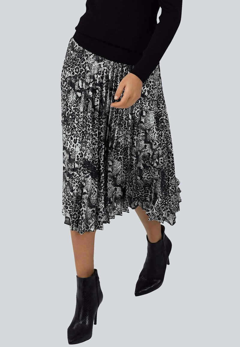 Alba Moda - A-line skirt - silbergrau,schwarz