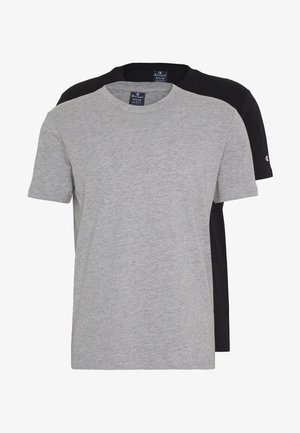 CREW NECK 2 PACK - T-shirt basique - grey/black