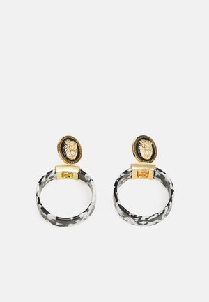 LUYA - Earrings - black/white/gold-coloured