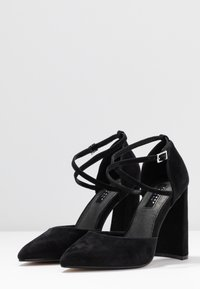 Topshop Wide Fit - WIDE FIT GRAPE FLARE - High heels - black - 4