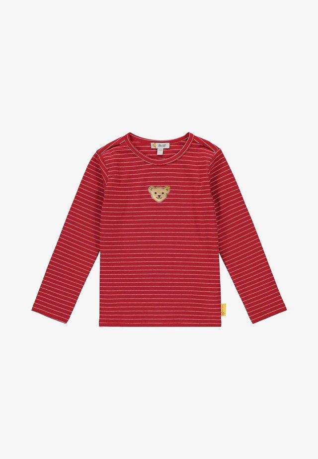 MIT VERSPIELTEM STREIFEMUSTER - Long sleeved top - tango red