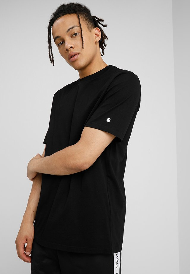BASE  - T-shirt basique - black/white