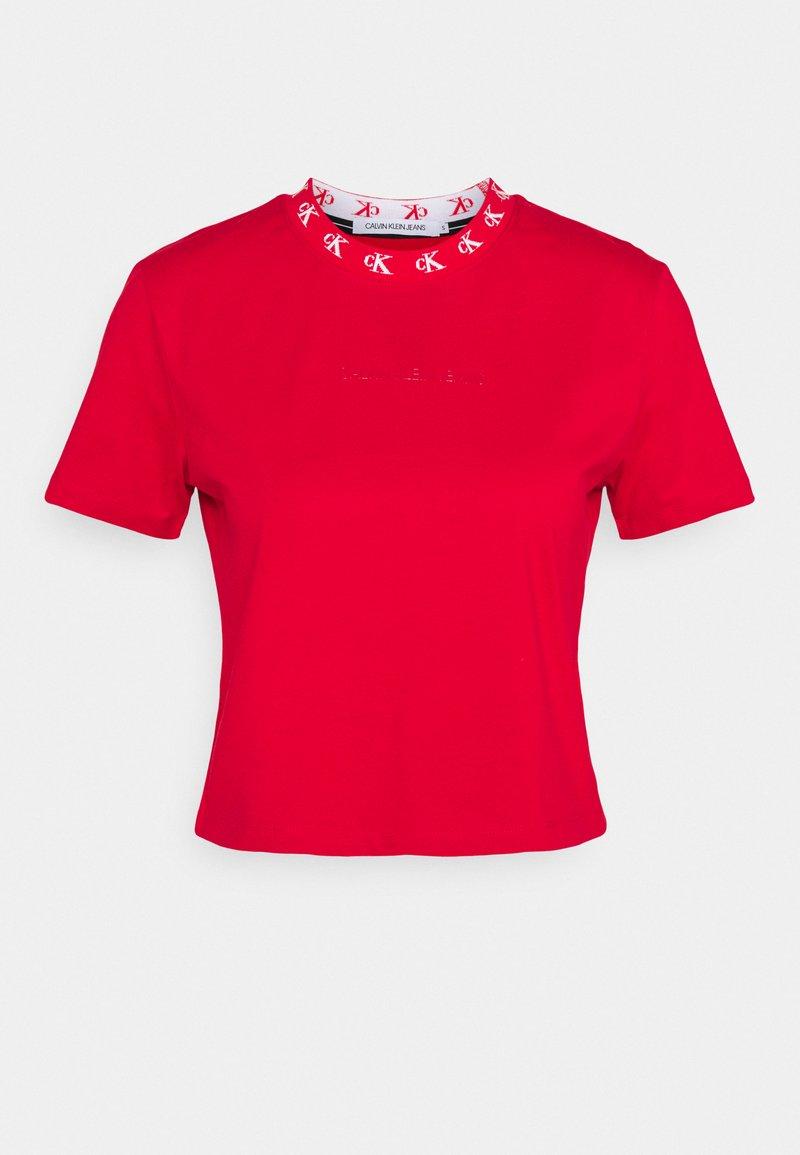 Calvin Klein Jeans - LOGO TRIM TEE - T-Shirt print - red hot