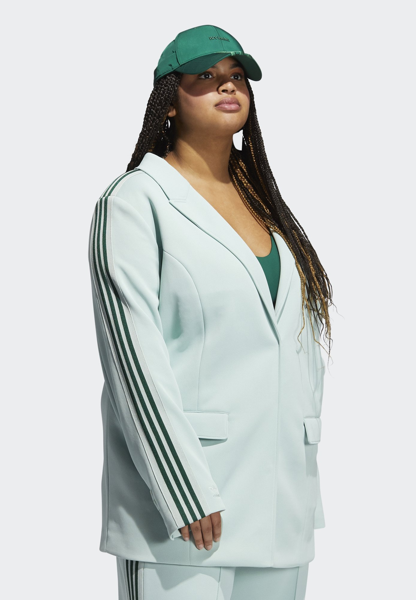 adidas Originals Ivy Park Logo 3 Stripe Suit  Blazer greentint/dunkelgrün