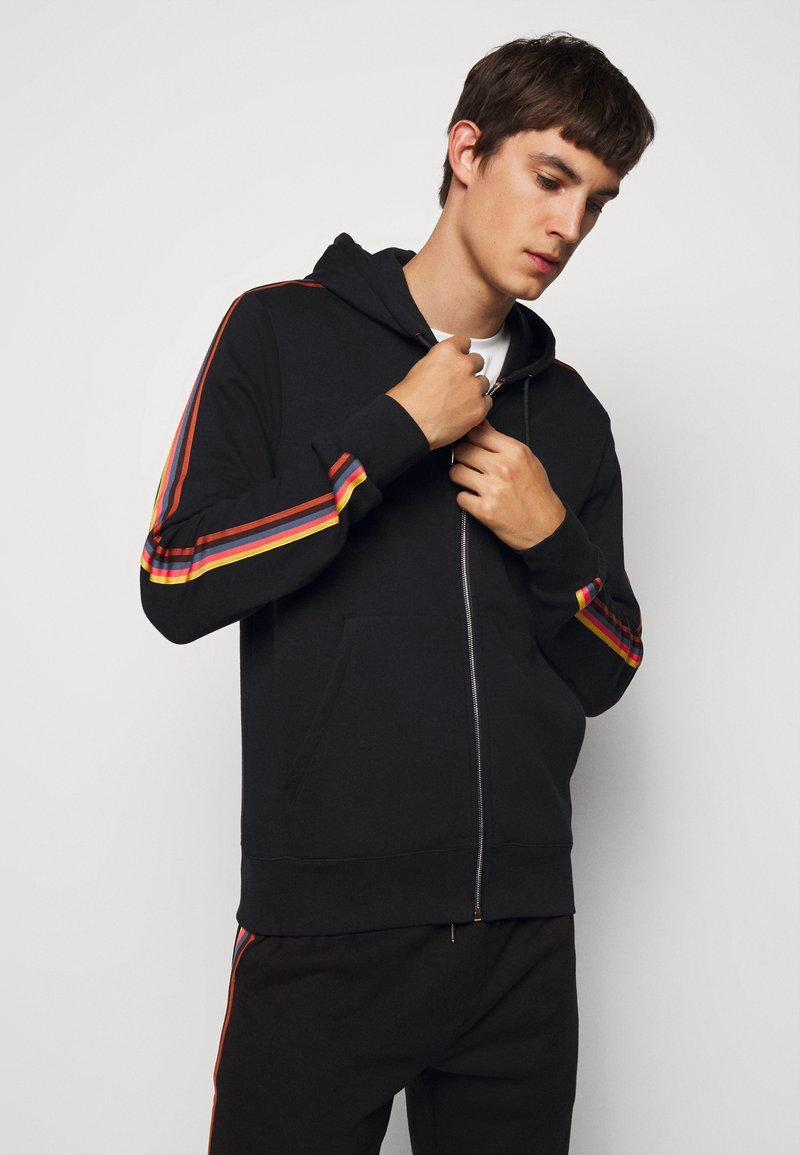 Paul Smith - GENTS ZIP THROUGH TAPED SEAMS HOODY - Mikina na zip - black