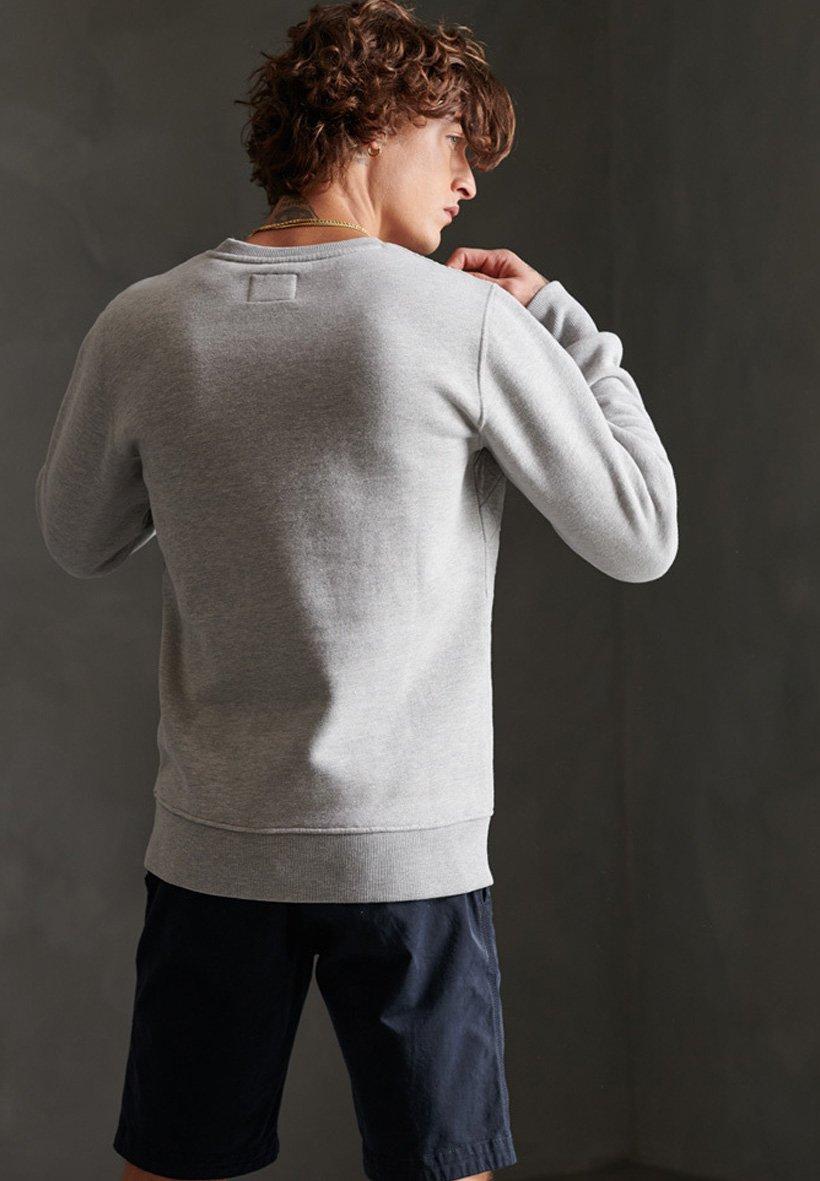 Superdry SUPERDRY WORKWEAR QUILTED CREW SWEATSHIRT - Sweatshirt - grey marl