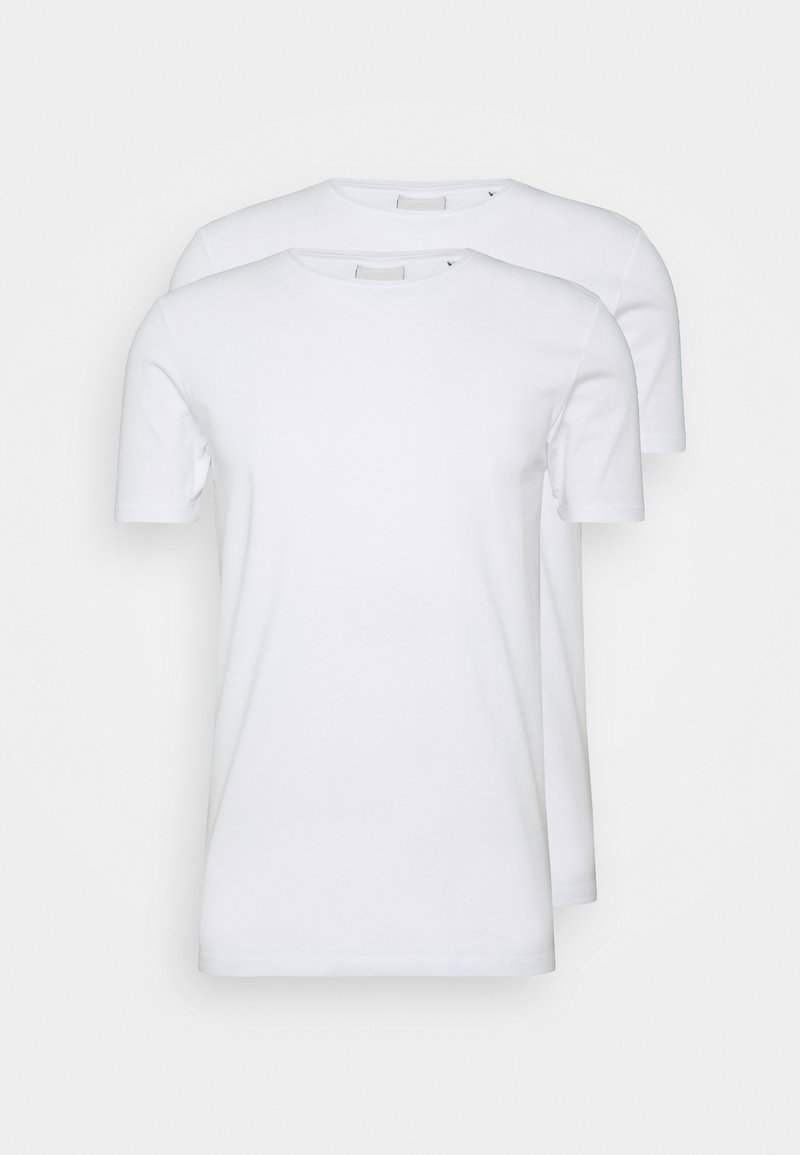 Scotch & Soda - 2 PACK - T-shirt basic - white