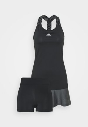 GAMESET AEROREADY SPORTS TENNIS SLIM DRESS - Sportovní šaty - black/grey