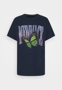 Mennace - BUTTERFLY  - T-shirt med print - navy - 3