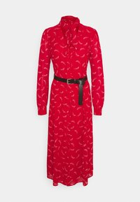 MICHAEL Michael Kors - SIGNTRE LOGO - Shirt dress - crimson
