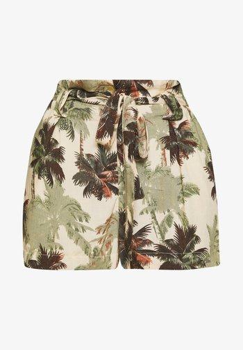 DESERT STRIPE - Shorts - brown palm