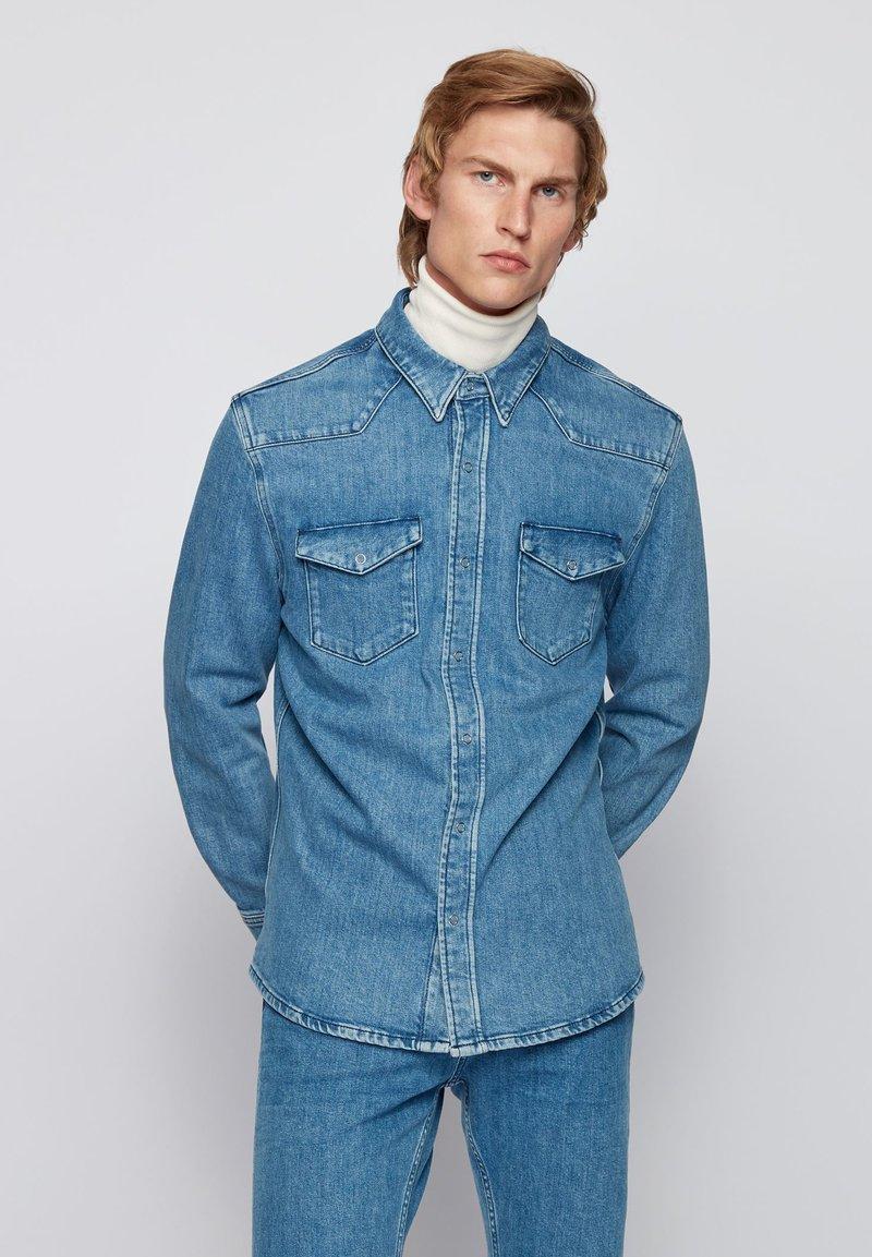 BOSS - NIKOLA - Shirt - blue