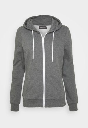 ZIP-UP HOODIE JACKET - Hettejakke - mottled dark grey