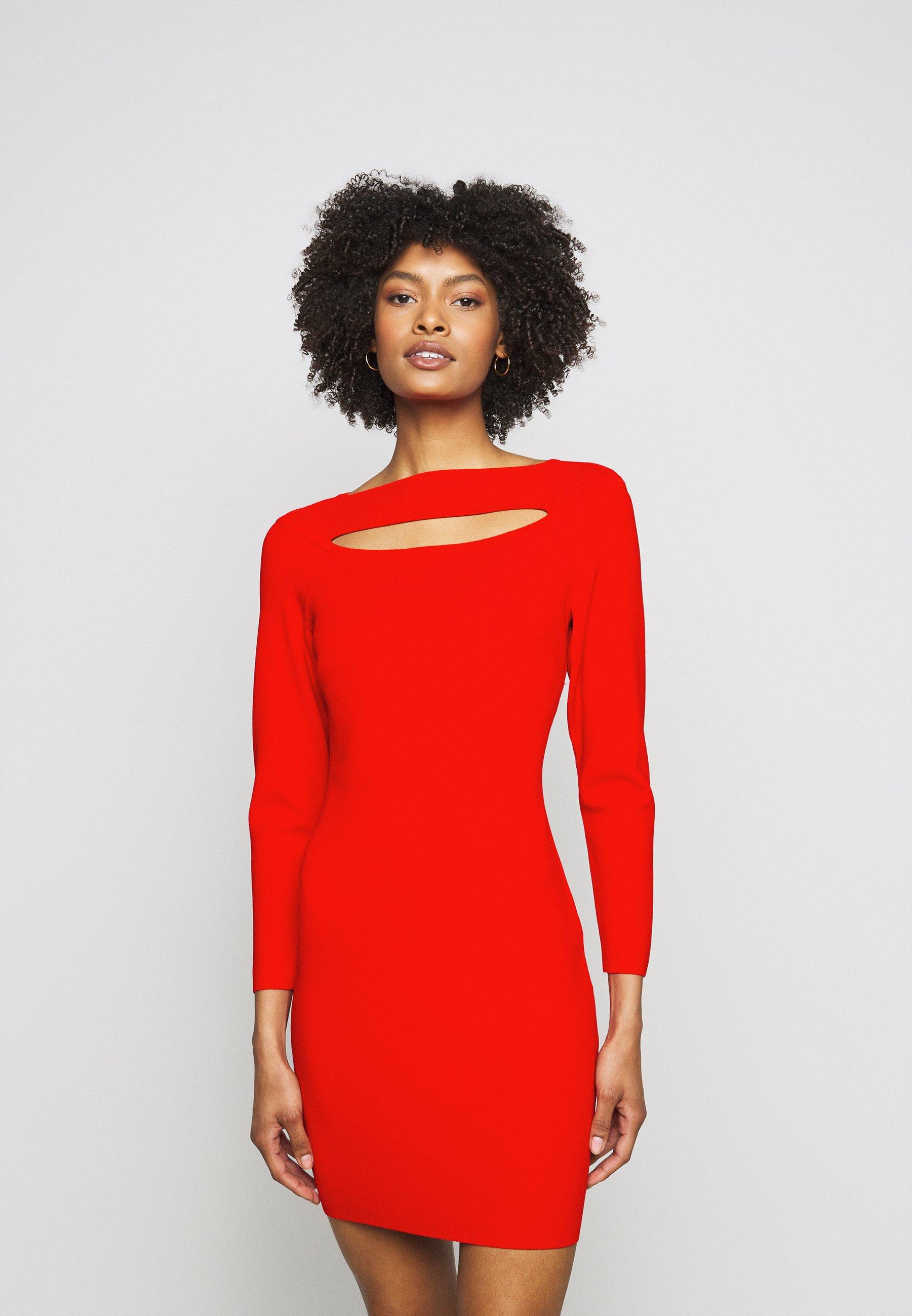 Women CUTOUT FRONT FITTED DRESS - Shift dress