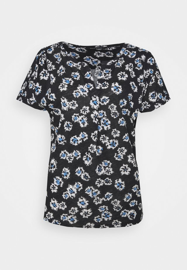 SHORT SLEEVE PLACKET - T-shirt print - multi