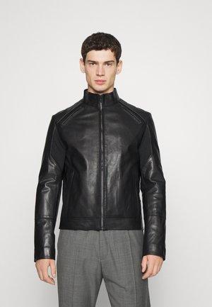 LIRIAN - Leather jacket - black