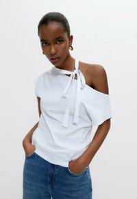 Uterqüe - Print T-shirt - white - 0