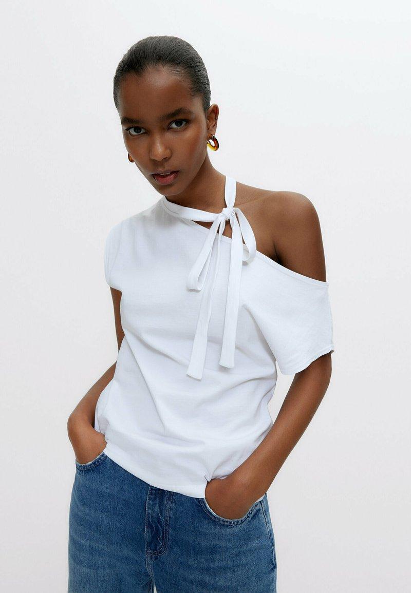 Uterqüe - Print T-shirt - white