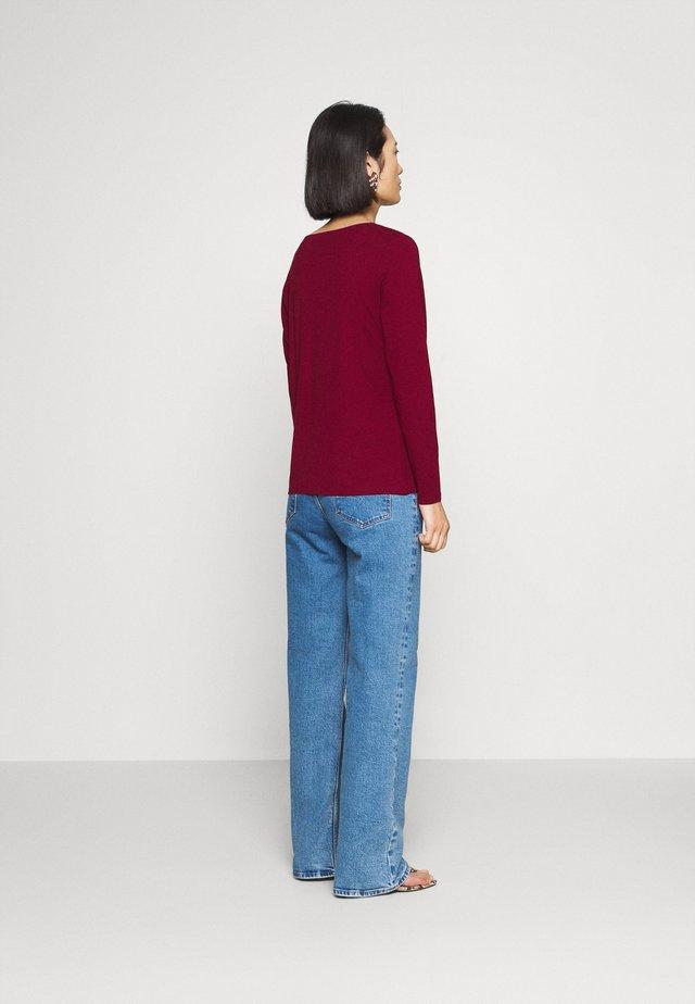 Langarmshirt - bordeaux red